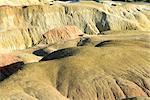 China, Xinjiang, near Buerjin River, rocks of 5 colors