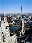 Canada, Ontario, Toronto, centre ville, la cathédrale de Saint Jacques