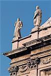 Église baroque de Rome, Italie, détails architecturaux