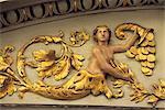 Italie, Venise, maison de l'opéra La Fenice, détail de la décoration