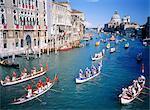 Italy, Venice, Grand canal, the regata storica