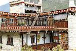 Logement Chine, Sichuan, près de Danba, tibétain traditionnel