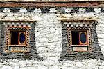 Logement Chine, Sichuan, près de Danba, tibétain traditionnel, windows