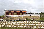 Tibétains Logement Chine, Sichuan,