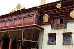 Chine, Sichuan, près de Rongpatsa, monastère tibétain, temple