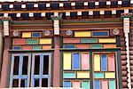 China, Sichuan, near Rongpatsa, Tibetan monastery, colored dwelling of monks