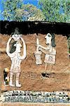 Ethiopia, Waleka, former jewish village, decorated house and shop