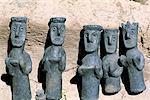 Morceaux traditionnels de poterie, l'ancien village juif Éthiopie, Waleka,