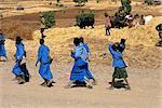 Ethiopia, Amhara schoolgirls
