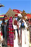 Éthiopie, célébration de l'Epiphanie région, Lalibela, Wollo « Timkat », procession