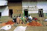 Vendeurs musulmans d'Éthiopie, écorcer, de poivrons
