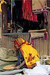 Ethiopia, Debark, woman selling dry vegetables