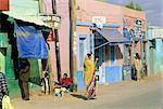 Éthiopie, Harar, les façades de magasins