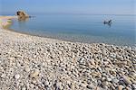 Italy, Sicily, Castel di Tusa, pebbles beach