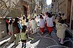 Italie, Sicile, Pettineo, procession du dimanche des rameaux