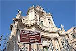 Italie, Sicile, Catane, Etnea rue, église de Saint Maria