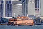 United States, New York, cruise around Manhattan island, ferry