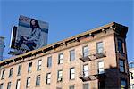 United States, New York, Manhattan, building and advert