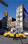 United States, New York, Manhattan, yellow cabs