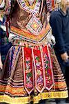 China, Guizhou, Leishan, dancer in traditional costume