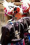 China, Guizhou, Zhaoxing village, Dong women in traditional costume