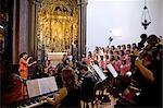 Portugal, Madeira, Funchal, cathédrale, orchestre et choeur