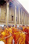 Thailand, Bangkok, the royal palace, monks