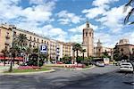 Espagne, Valencia, plazza de la Reina, cathédrale et tour Miguelete