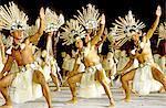 French Polynesia, Marquesas archipelago, dancers during Heiva festival.