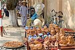 Vietnam, Hoi An, pottery stall.