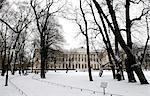 Château de Saint-Pétersbourg, en Russie, Mikhailovsky, jardins.