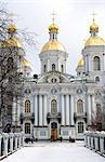 Russia, St Petersburg, Saint Nicolas naval cathedral.