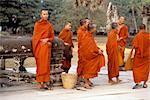 Monks at Angkor Wat, Angor, Cambodia