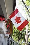 Drapeau canadien de porche