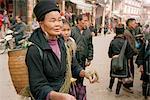 People in Street, Sa Pa, Vietnam