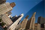 Reflection of buildings on a sculpture, The Bean, Cloud Gate, Millennium Park, Chicago, Illinois, USA