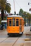 Trolley Car in Street, Embarcadero, San Francisco, California