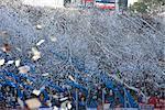 Fans de football au stade Centenario, Montevideo, Uruguay