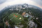 Aerial View of Piedmont Park, Atlanta, Georgia, USA