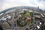 Aerial View of Centennial Olympic Park, Atlanta, Georgia, USA