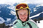 Portrait of Skier on Hillside