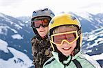 Skiers on Hillside