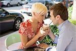Junges Paar auf ein romantisches Date