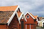 Angeln-Hütte am Hafen, Grundsund, Bohuslan, Schweden