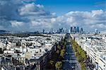 La défense et La Grande Arche, Paris, France