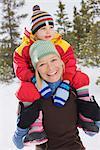 Portrait of Mother and Daughter, Breckenridge, Colorado, USA