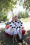 Newlyweds Holding Just Married Sign, Niagara Falls, Canada
