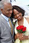 Portrait of Newlywed Couple, Niagara Falls, Ontario, Canada