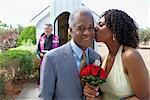 Newlywed Couple by Chapel, Niagara Falls, Ontario, Canada