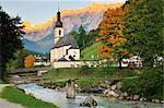 Église de montagne, Ramsau, Bavière, Allemagne